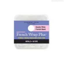 Фото Dashing Diva, French Wrap Plus - White, Refill Size #8 (широкие)