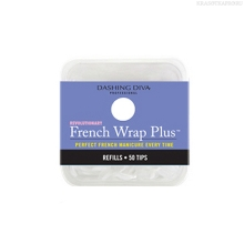 Фото Dashing Diva, French Wrap Plus - White, Refill Size #2 (узкие)