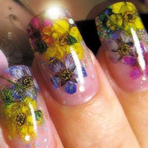 Сухоцветы маникюр